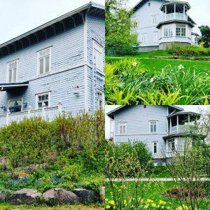 Sininen talo huono maalipinta